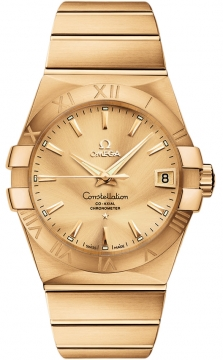 Omega Constellation Co-Axial Automatic 38mm Mens watch, model number - 123.50.38.21.08.001, discount price of £16,930.00 from The Watch Source