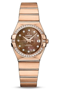 Buy this new Omega Constellation Co-Axial Automatic 27mm 123.55.27.20.57.001 ladies watch for the discount price of £18,756.00. UK Retailer.