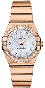 Buy this new Omega Constellation Brushed 27mm 123.55.27.60.55.001 ladies watch for the discount price of £14,274.00. UK Retailer.