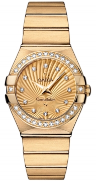 Omega Constellation Brushed 27mm Ladies watch, model number - 123.55.27.60.58.001, discount price of £11,196.00 from The Watch Source