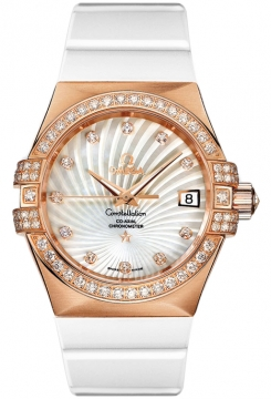 Buy this new Omega Constellation Co-Axial Automatic 35mm 123.57.35.20.55.001 ladies watch for the discount price of £13,428.00. UK Retailer.