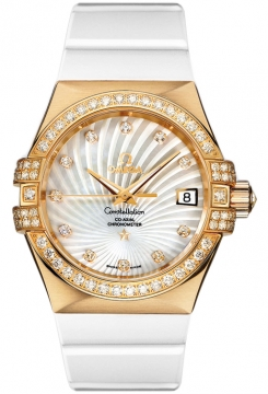 Omega Constellation Co-Axial Automatic 35mm Ladies watch, model number - 123.57.35.20.55.003, discount price of £12,035.00 from The Watch Source