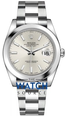Rolex Datejust 41mm Stainless Steel 126300 Silver Index Oyster watch
