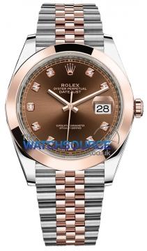 Rolex Datejust 41mm Steel and Everose Gold 126301 Chocolate Diamond Jubilee watch