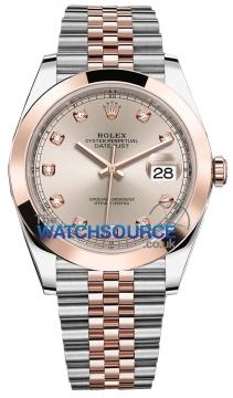 Rolex Datejust 41mm Steel and Everose Gold 126301 Sundust Diamond Jubilee watch
