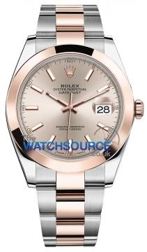 Rolex Datejust 41mm Steel and Everose Gold 126301 Sundust Index Oyster watch