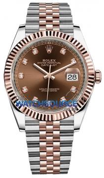 Rolex Datejust 41mm Steel and Everose Gold 126331 Chocolate Diamond Jubilee watch