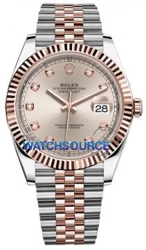 Rolex Datejust 41mm Steel and Everose Gold 126331 Sundust Diamond Jubilee watch
