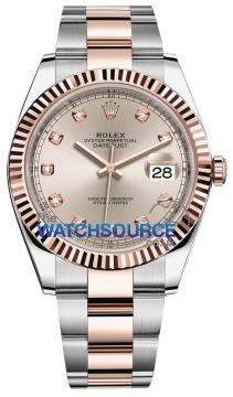 Rolex Datejust 41mm Steel and Everose Gold 126331 Sundust Diamond Oyster watch