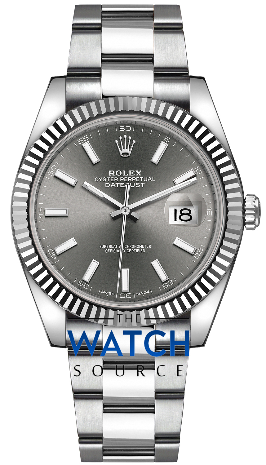 Buy this new Rolex Datejust 41mm Stainless Steel 126334 ...