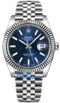Rolex Datejust 41mm Stainless Steel 126334 Blue Index Jubilee watch