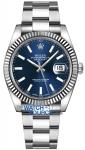 Rolex Datejust 41mm Stainless Steel 126334 Blue Index Oyster watch