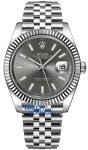 Rolex Datejust 41mm Stainless Steel 126334 Dark Rhodium Index Jubilee watch