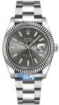 Rolex Datejust 41mm Stainless Steel 126334 Dark Rhodium Index Oyster watch