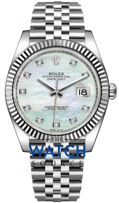Rolex Datejust 41mm Stainless Steel 126334 MOP Diamond Jubilee watch