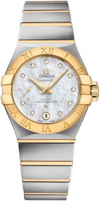 Buy this new Omega Constellation Co-Axial Automatic Small Seconds 27mm 127.20.27.20.55.002 ladies watch for the discount price of £5,580.00. UK Retailer.
