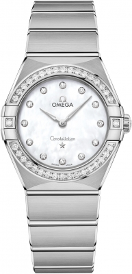 Buy this new Omega Constellation Quartz 28mm 131.15.28.60.55.001 ladies watch for the discount price of £5,103.00. UK Retailer.