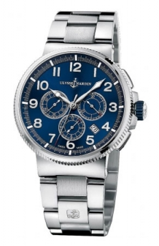 Ulysse Nardin Marine Chronograph Manufacture 43mm Mens watch, model number - 1503-150-7m/63, discount price of £8,559.00 from The Watch Source