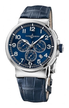 Ulysse Nardin Marine Chronograph Manufacture 43mm Mens watch, model number - 1503-150/63, discount price of £8,121.00 from The Watch Source