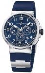 Ulysse Nardin Marine Chronograph Manufacture 43mm 1503-150LE-3/63-vb VOYAGE BLEU watch