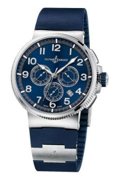 Ulysse Nardin Marine Chronograph Manufacture 43mm Mens watch, model number - 1503-150-3/63, discount price of £7,994.00 from The Watch Source