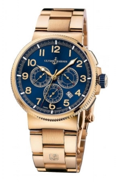 Ulysse Nardin Marine Chronograph Manufacture 43mm Mens watch, model number - 1506-150-8m/63, discount price of £32,172.00 from The Watch Source