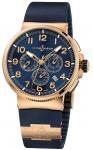 Ulysse Nardin Marine Chronograph Manufacture 43mm 1506-150LE-3/63-vb VOYAGE BLEU watch