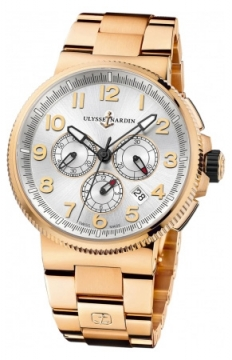 Ulysse Nardin Marine Chronograph Manufacture 43mm Mens watch, model number - 1506-150-8m/61, discount price of £32,172.00 from The Watch Source
