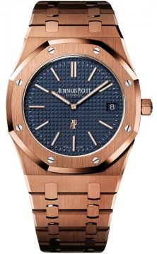 Audemars Piguet Royal Oak Automatic Calibre 2121 Extra Thin Mens watch, model number - 15202or.oo.1240or.01, discount price of £40,050.00 from The Watch Source