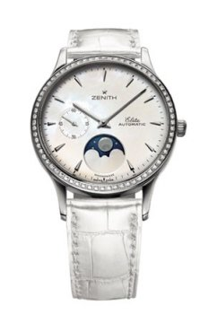 Buy this new Zenith Elite Ultra Thin Lady Moonphase 33mm 16.1225.692/80.c664 ladies watch for the discount price of £7,840.00. UK Retailer.