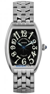 Franck Muller Cintree Curvex Ladies watch, model number - 1752 QZ O Black, discount price of £3,525.00 from The Watch Source