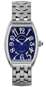 Franck Muller Cintree Curvex Ladies watch, model number - 1752 QZ O Blue, discount price of £3,525.00 from The Watch Source