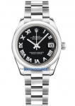 Rolex Datejust 31mm Stainless Steel 178240 Black Roman Oyster watch