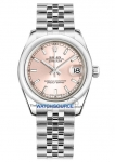 Rolex Datejust 31mm Stainless Steel 178240 Pink Index Jubilee watch