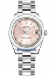Rolex Datejust 31mm Stainless Steel 178240 Pink Index Oyster watch