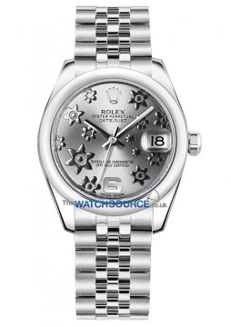 Rolex Datejust 31mm Stainless Steel 178240 Rhodium Floral Jubilee watch