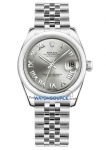 Rolex Datejust 31mm Stainless Steel 178240 Rhodium Roman Jubilee watch