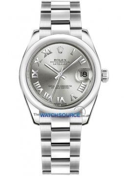 Rolex Datejust 31mm Stainless Steel 178240 Rhodium Roman Oyster watch