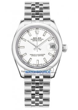 Rolex Datejust 31mm Stainless Steel 178240 White Index Jubilee watch