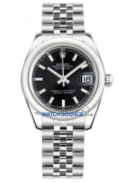 Rolex Datejust 31mm Stainless Steel 178240 Black Index Jubilee watch
