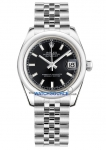 Rolex Datejust 31mm Stainless Steel 178240 Black Index Jubilee watch