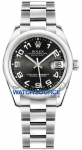 Rolex Datejust 31mm Stainless Steel 178240 Black Concentric Arabic Oyster watch