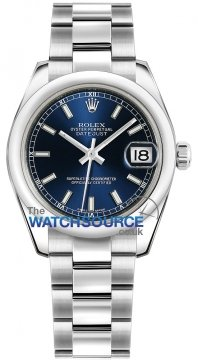 Rolex Datejust 31mm Stainless Steel 178240 Blue Index Oyster watch