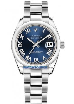 Rolex Datejust 31mm Stainless Steel 178240 Blue Roman Oyster watch