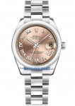 Rolex Datejust 31mm Stainless Steel 178240 Pink Roman Oyster watch