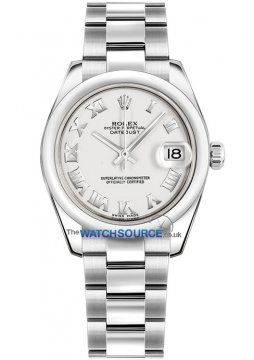 Rolex Datejust 31mm Stainless Steel 178240 White Roman Oyster watch