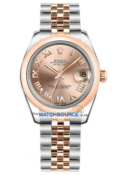 Rolex Datejust 31mm Stainless Steel and Rose Gold 178241 Pink Roman Jubilee watch
