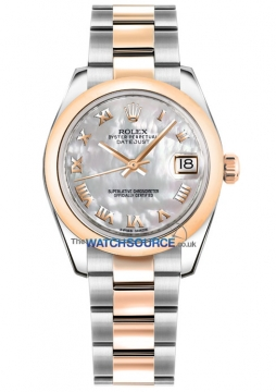 Rolex Datejust 31mm Stainless Steel and Rose Gold 178241 White MOP Roman Oyster watch