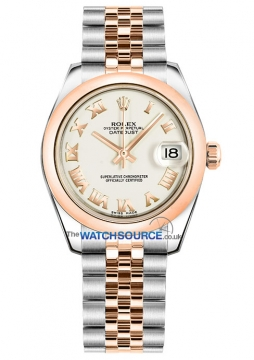 Rolex Datejust 31mm Stainless Steel and Rose Gold 178241 White Roman Jubilee watch