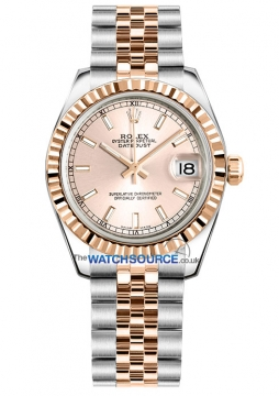 Rolex Datejust 31mm Stainless Steel and Rose Gold 178271 Pink Index Jubilee watch